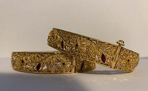 22ct indian gold bracelet Set