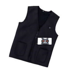 5V USB Battery Warm Heated Vest for Male & Female Battery Not Included Black
