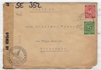 Germany 1947 Postal History US Censored Cover To London X9468