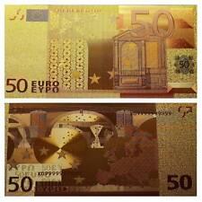 50 € Goldfolien Schein Unc. Souvenir / Fantasy Banknote / 693645##