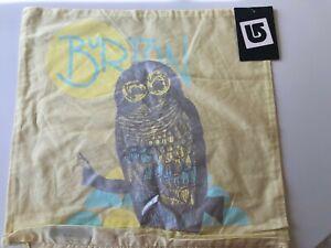 New Pottery Barn PB Teen Burton Snowboard NIGHT OWL Yellow Throw Pillow Cover 18