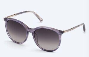 Swarovski SK0293-H Women's Violet Tortoise Shell Authentic Sunglasses NWT