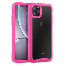 For Apple iPhone 11 Pro Max Heavy Duty Shockproof Hybrid Clear Back Case Cover