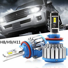 2X H11 H8 H9 80W 8000LM T1 Car Turbo LED Headlight Kits Light Bulbs 6000K Canbus