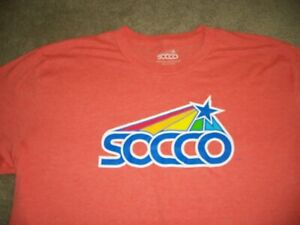 SOCCO SKATEBOARD SOCKS Orange SHIRT LARGE Santa Cruz Independent Alva Vans 70's