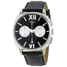 Tissot T-Lord Automatic Chronograph Black Dial Leather Mens Watch