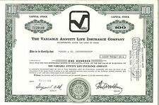 Variable Annuity Life Insurance > 1973 VALIC stock certificate share