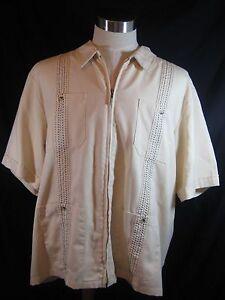 John Blair Zip Front Shirt Size XLG