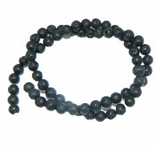 "6mm Volcanic Lava Rock Natural  Round Beads 40cm 15""  Stone"