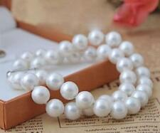 "2 rows 8mm white South Sea shell pearl bracelet 7.5-8"" LL001"