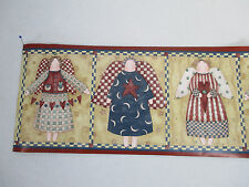 Wallpaper Borders Debbie Mumm Patchwork Angels Pre-Pasted 2 Rolls 10yds Country
