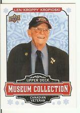 "Len ""Kroppy"" Kropioski  2018 Upper Deck Museum Collection Canadian Veteran W-LK"