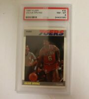 1987 Fleer Julius Erving #35 PSA 8