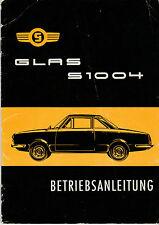 Glas S1004 Betriebsanleitung operating instructions Mai 1962