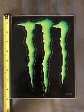"""Monster Energy Logo Sticker Decal Sponsor Sheet Kit 6"""" X 9"""""""