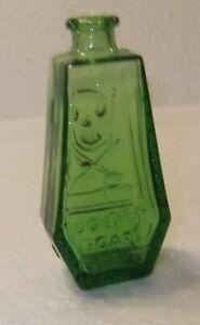 Vintage Wheaton Glass Mini Green Coffin Poison Bottle 1971