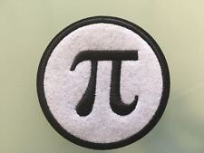 """PI MATHS Mathematical GREEK LETTER SCIENCE Patch -Embroidered Iron On Patch 3"""" B"""