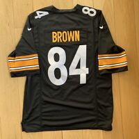 Nike Antonio Brown Pittsburgh Steelers #84 Stitched On Field Jersey Size Men's S