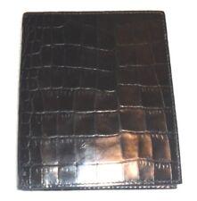fine mens faux black alligator skin  leather wallet unused