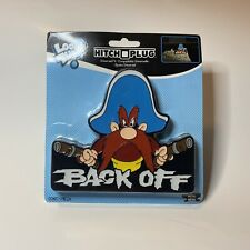 """Hitch Covers Plugs Aluminum Yosemite Sam Back Off Fit 2"""" and 1 ¼"""" Receivers"""