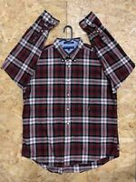 Men's Vintage Tommy Hilfiger Long Sleeve Flannel Shirt XL Check