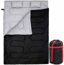 Large Double Sleeping Bag Camp Camping Travel SleepThick Waterproof 2 Pillows