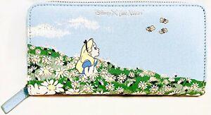 Cath Kidston Disney Alice in Wonderland Purse Continental Wallet Alice's Meadow