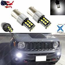 A Pair 2015-up Jeep Renegade 6000K Xenon White LED Daytime Running Light Bulbs