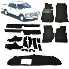MERCEDES W123 Coupe 230c 230ce neuer Auto Teppich Schlinge schwarz