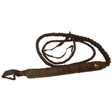 Lederpeitsche braun 190 cm Echtleder Peitsche mit Nieten Reitgerte Accessoire