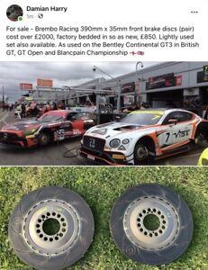 Brembo Racing 390mm x 35mm brake discs Bentley Continental GT3