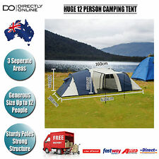 12 PERSON MAN FAMILY CAMPING DOME TENT OUTDOOR PORTABLE WATER RESISTANT NEW