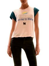 Wildfox Women's Take Me To Water Top Tee Chapstick Pink Size S RRP £59 BCF73