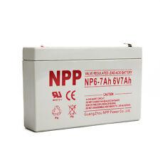NPP 6V 7Ah 7.2Ah 7.5Ah UPS Replacement Battery for Enduring 3FM7, 3-FM-7