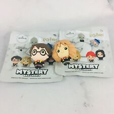 Harry Potter Hallmark Mystery Christmas Ornaments Hermione and Harry Lot of 2