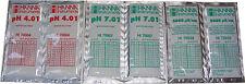 6 x HANNA CALIBRATION SOLUTION SACHETS  2 x 4.01 pH, 2 x 7.01pH, 2 x 5000 uS EC