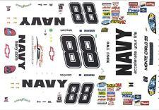 #88 Brad Keselowski  Navy 1/43rd Scale Slot Car Decals