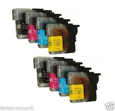 8 Ink Cartridges for Brother MFC -j265w MFC-j 220 LC-985 bk LC 985bk LC-985