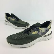 Nike Odyssey React 2 Flyknit GPX Men's Running Shoes Size 11.5 Camo Green Olive