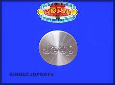 WHEEL CENTER CAP SILVER ALLOY HUB MOPAR 2001-2008 JEEP WRANGLER LIBERTY NEW OEM
