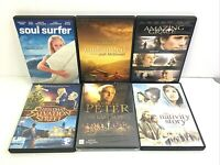 Christian DVDs Lot of 6 Peter, Undaunted, Amazing Grace, Nativity...