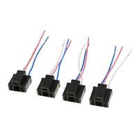 """4pcs h4 femelle adaptateurs prise de faisceau de câblage avec 4 """"fil pour"""