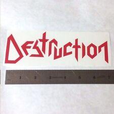 DESTRUCTION Vinyl DECAL STICKER BLK/WHT/RED Thrash Metal BAND Logo Window Guitar