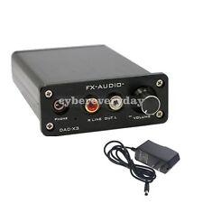 FX-AUDIO DAC-X3 Fiber Coaxial USB DAC Decoder 24BIT/192Khz Audio for Amplifier
