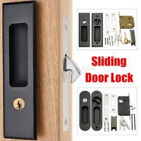 Black Sliding Door Lever Black Mortise Lock Handle Set Home Hardware  UK AU