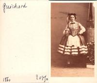 Actrice Théâtre Ballet Danse, La danseuse Melle Guichard Vintage CDV albumen car