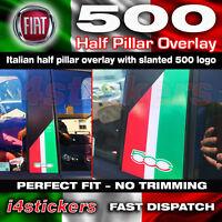 Fiat 500 595 Italian Half pillar overlay small 500 logo Graphics Decals Stickers