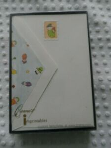 NEW in Box 10 Embossed  Birth Announcement 5X7Crane Baby Boom Imprintable Cards