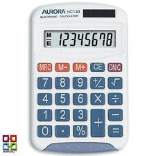 Aurora HC133 Small Kids Pocket Calculator Childrens Handheld School College