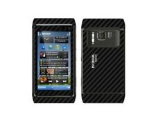 Skinomi Black Carbon Fiber Full Body + Screen Protector for Nokia N8